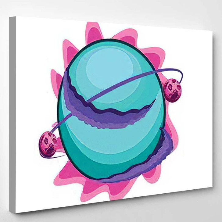 Fantastic Planets On White Background Vector 1 - Fantastic Canvas Wall Decor