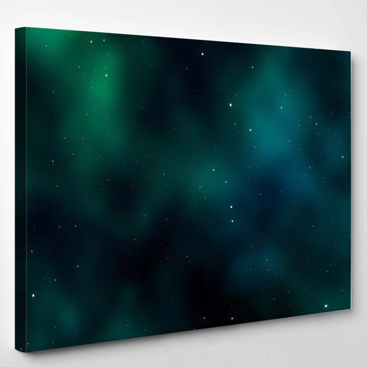 Space Background Fantastic Outer View Realistic 1 - Fantastic Canvas Wall Decor