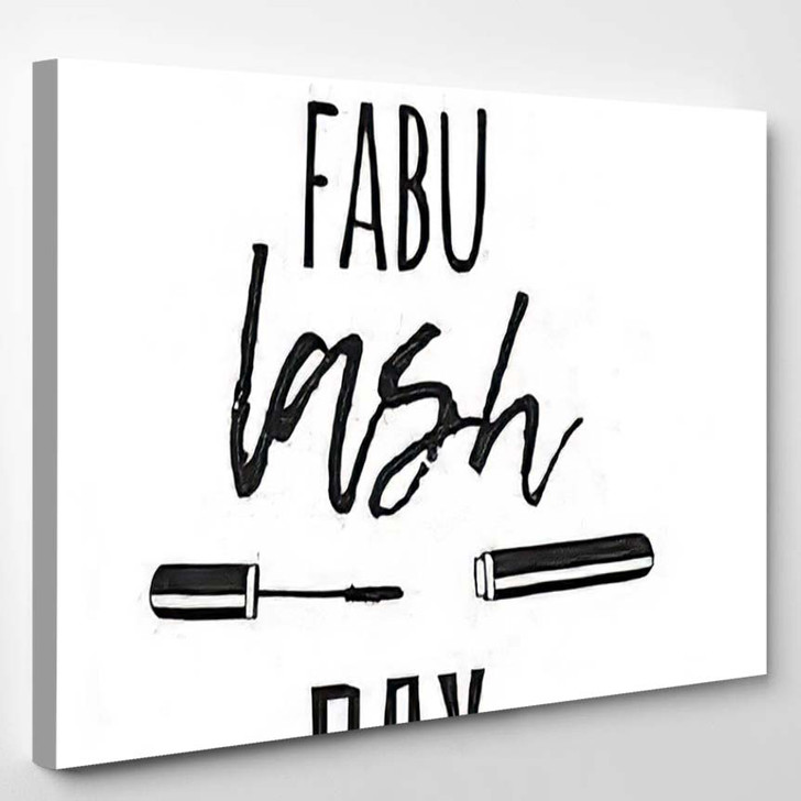 Hand Drawn Illustration Beauty Products Fashion - Quotes Canvas Wall Decor