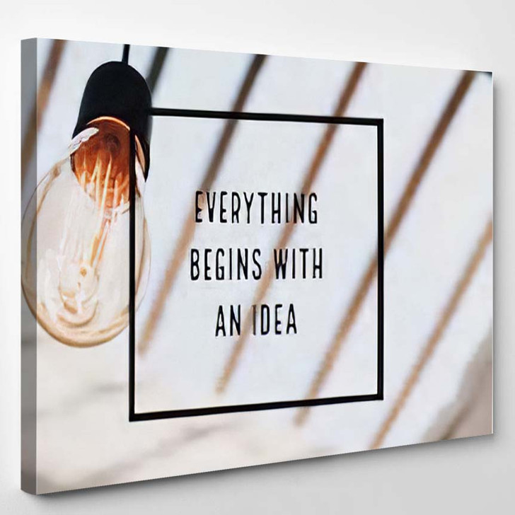 Inspiration Motivation Quote About Thinking - Quotes Canvas Wall Decor