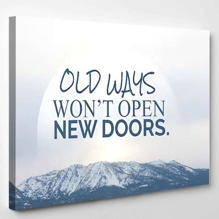 Inspiration Quote On Blurred Background - Quotes Canvas Wall Decor