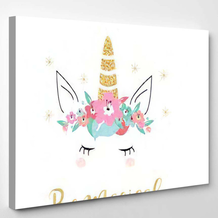 Quote Unicorn Card Background Vector Hand - Quotes Canvas Wall Decor