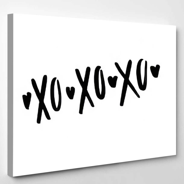 Quote Xo Valentine Lettering Love Collection - Quotes Canvas Wall Decor