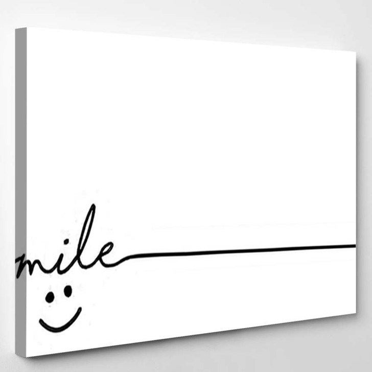 Slogan By Happy Smile Every Day - Quotes Canvas Wall Decor