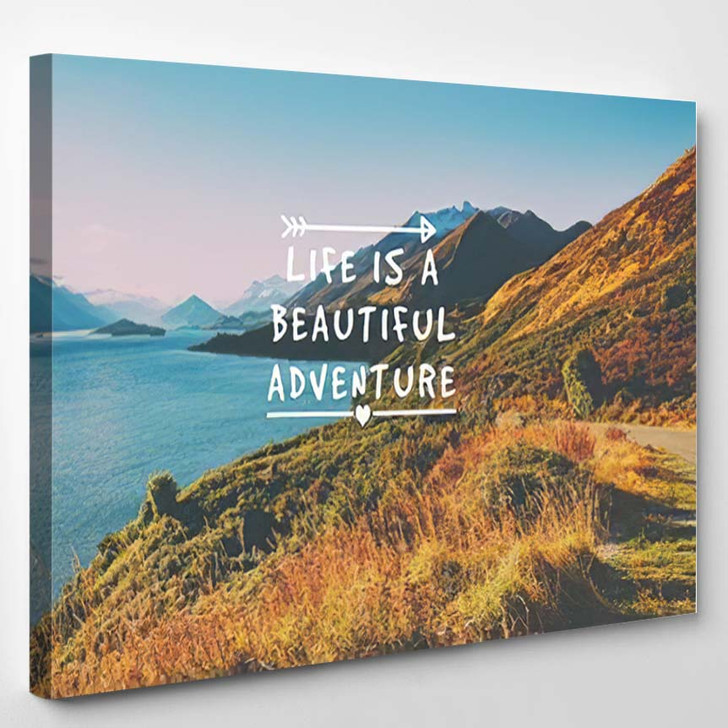 Travel Inspirational Quotes Life Beautiful Adventure - Quotes Canvas Wall Decor