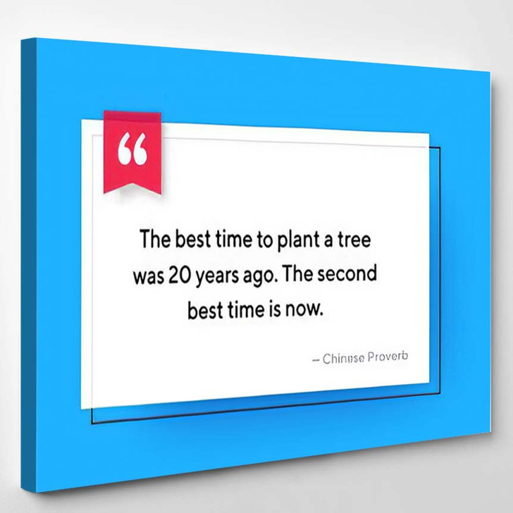 Vector Quote Template Text Placeholder Trendy - Quotes Canvas Wall Decor