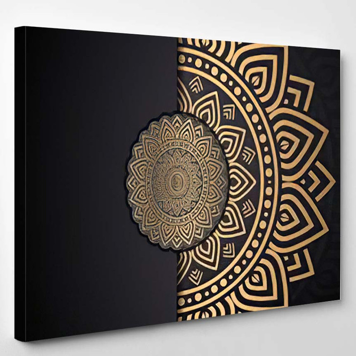Abstarct Luxury Geometric Background Vector - Mandala Canvas Wall Decor
