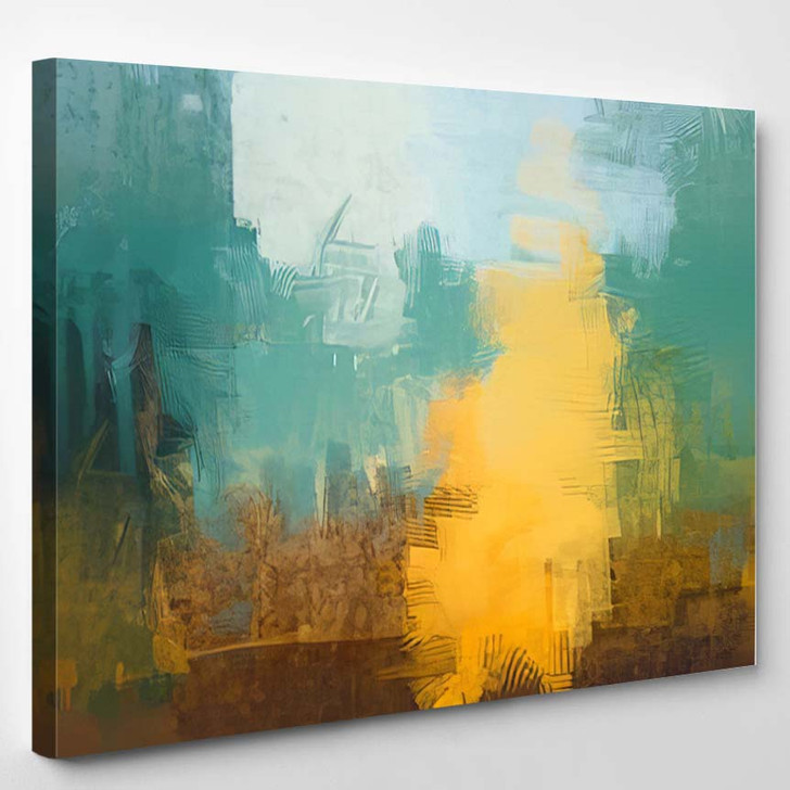 2D Illustration Artistic Background Image Abstract 2 - Abstract Art Canvas Wall Decor