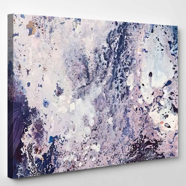 Abstract Acrylic Painting Water Splashes High - Abstract Art Canvas Wall Decor