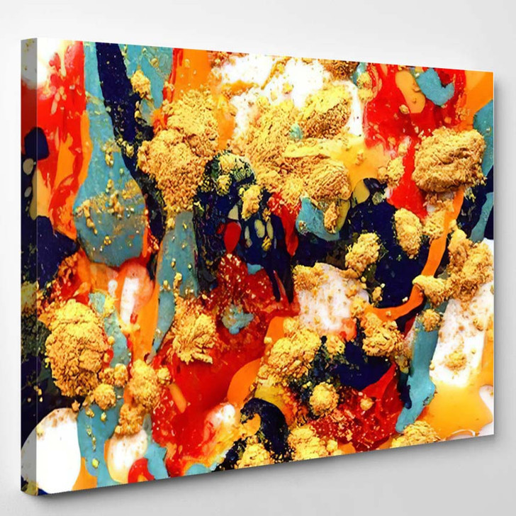 Abstract Art Background Handpainted 4 - Abstract Art Canvas Wall Decor