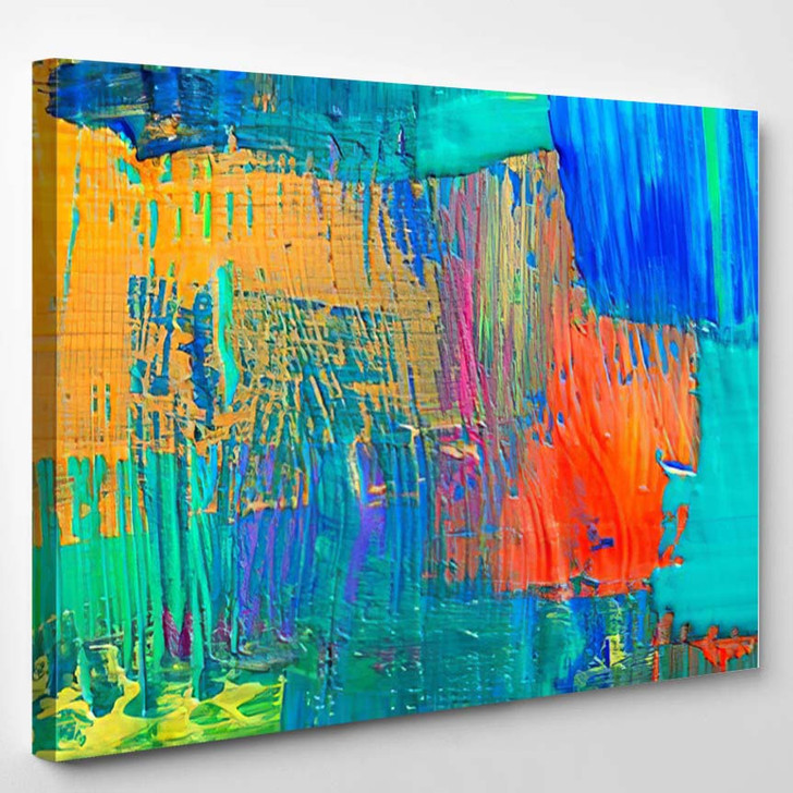 Abstract Art Background Handpainted Self Made 4 - Abstract Art Canvas Wall Decor