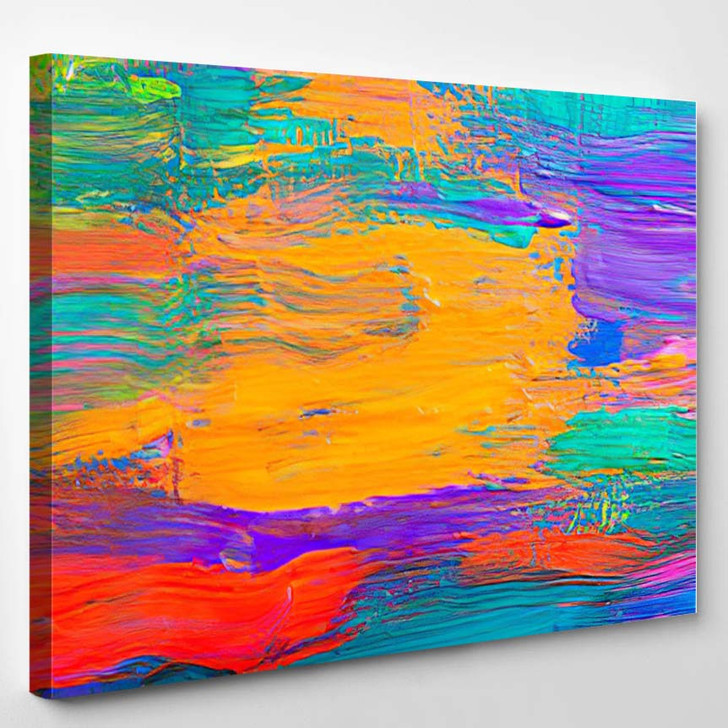 Abstract Art Background Handpainted Self Made 6 - Abstract Art Canvas Wall Decor