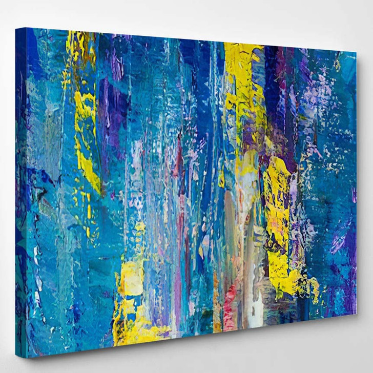 Abstract Art Background Oil Painting On 2 1 - Abstract Art Canvas Wall Decor