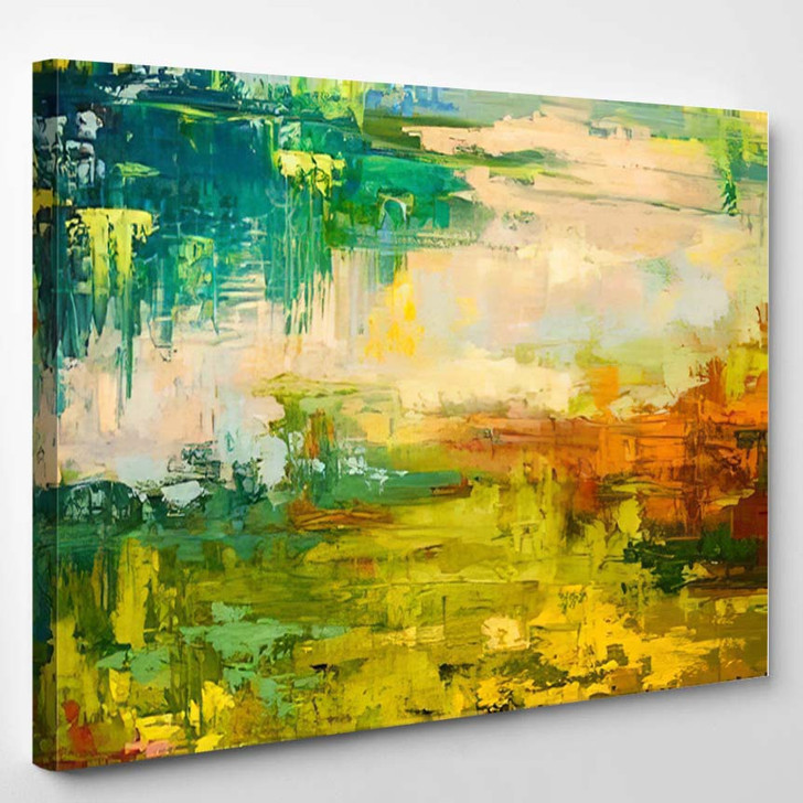 Abstract Art Background Oil Painting On 5 - Abstract Art Canvas Wall Decor