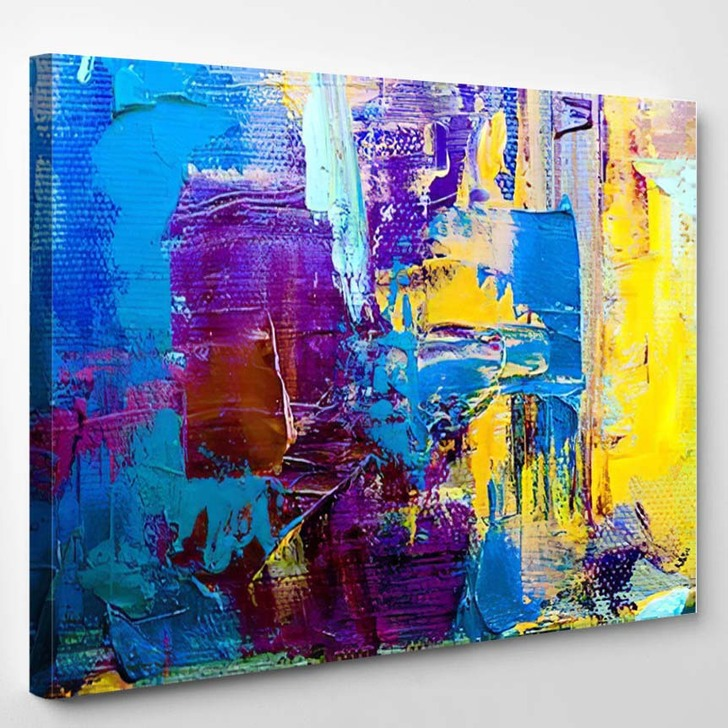 Abstract Art Background Oil Painting On 10 - Abstract Art Canvas Wall Decor