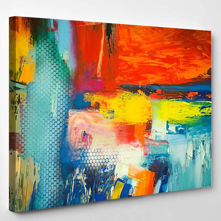 Abstract Art Background 32 - Abstract Art Canvas Wall Decor