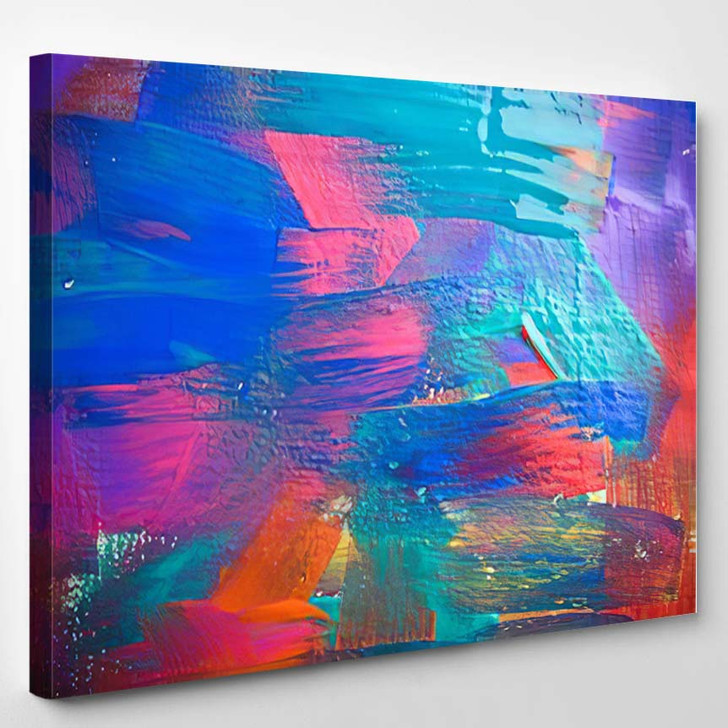 Abstract Art Backgrounds Handpainted Background Self 3 - Abstract Art Canvas Wall Decor