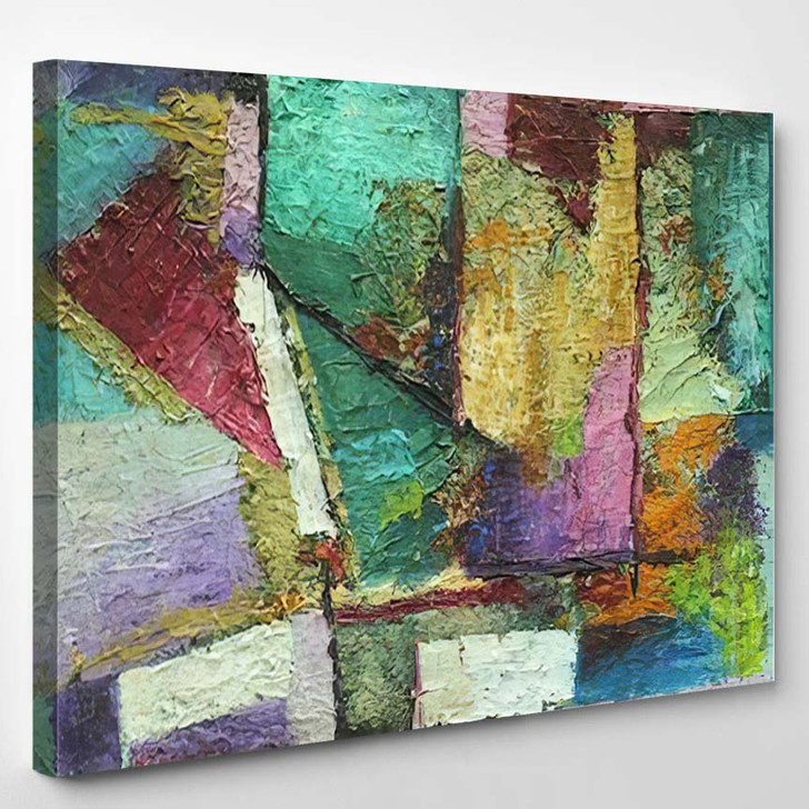 Abstract Art Colorful Color Mixing Techniques 1 1 - Abstract Art Canvas Wall Decor