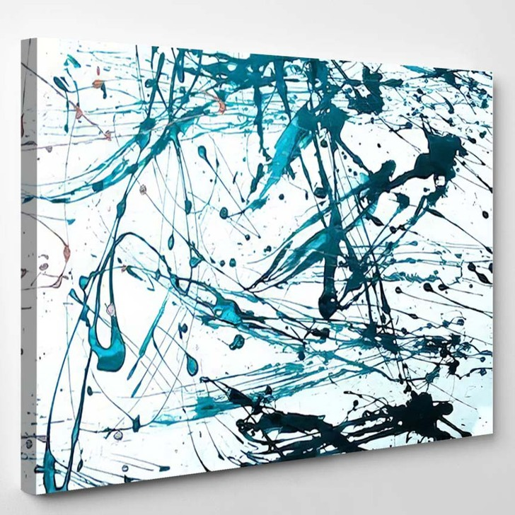 Abstract Art Creative Background Hand Painted - Abstract Art Canvas Wall Decor
