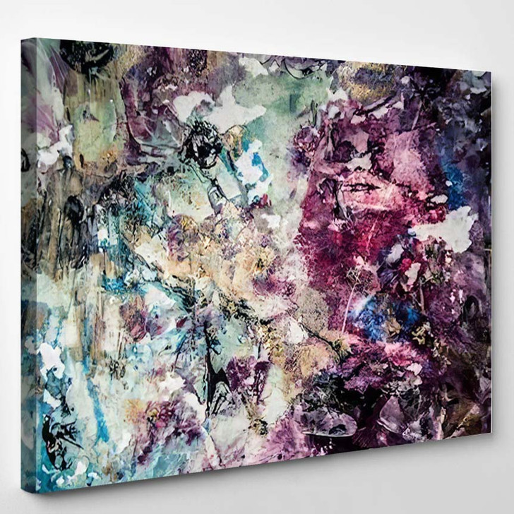Abstract Art Gold Colors Sparkles Creative 1 - Abstract Art Canvas Wall Decor
