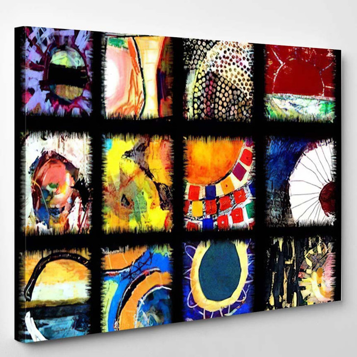 Abstract Art Quilt Original Sun Paintings - Abstract Art Canvas Wall Decor