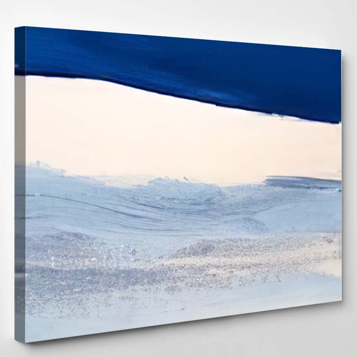 Abstract Blue Art Painting Background Modern 1 - Abstract Art Canvas Wall Decor