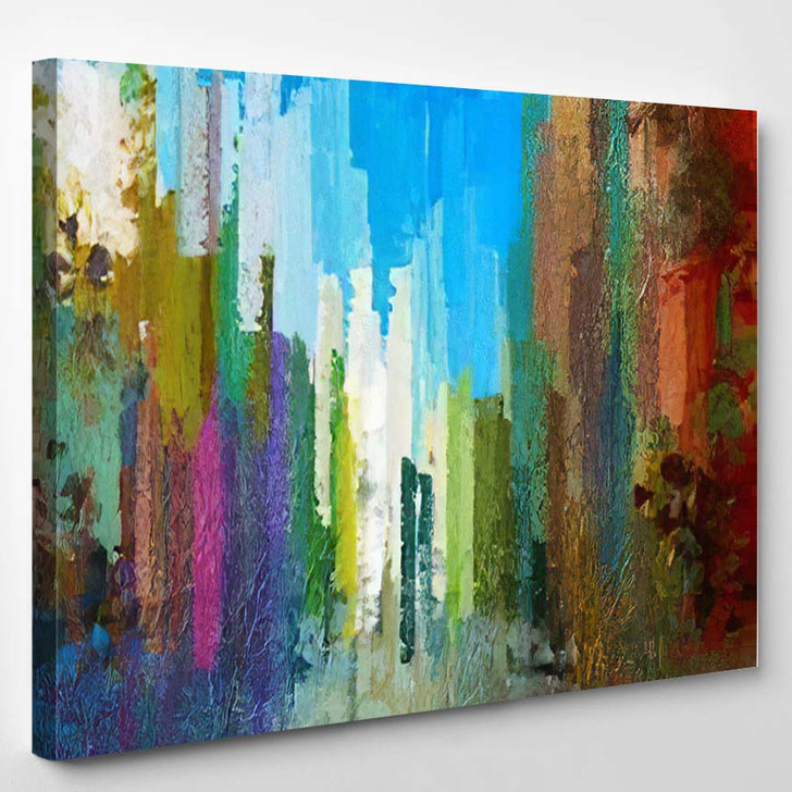 Abstract Chaos Colors Palette Contemporary Art - Abstract Art Canvas Wall Decor
