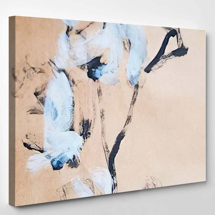 Abstract Flower Painting Background Modern Art - Abstract Art Canvas Wall Decor