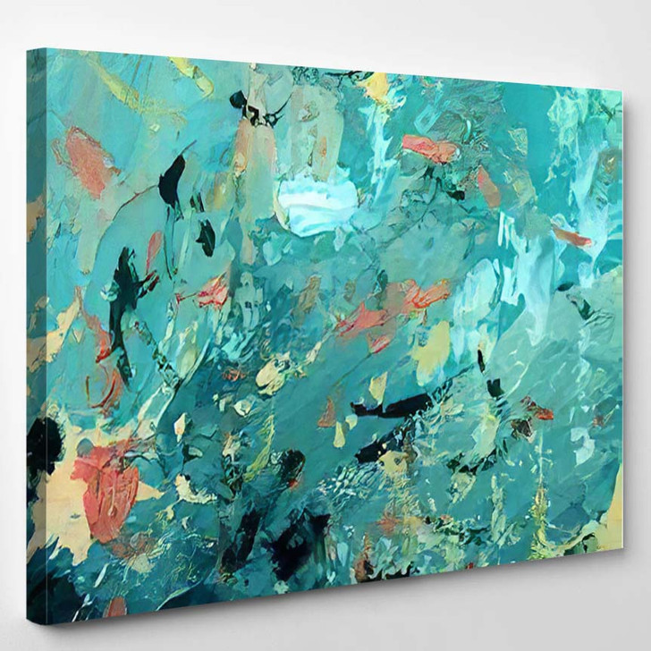 Abstract Hand Draw Oil Painting Composition - Abstract Art Canvas Wall Decor