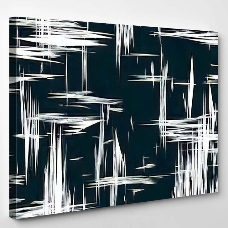 Abstract Illustration Art Suitable Geometric Texture - Abstract Art Canvas Wall Decor