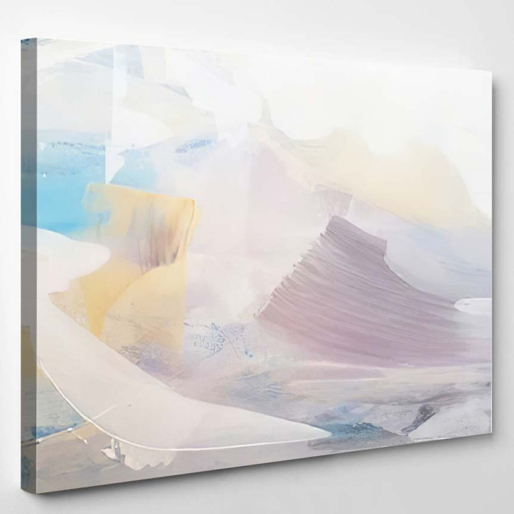 Abstract Ligts Background Modern Art - Abstract Art Canvas Wall Decor