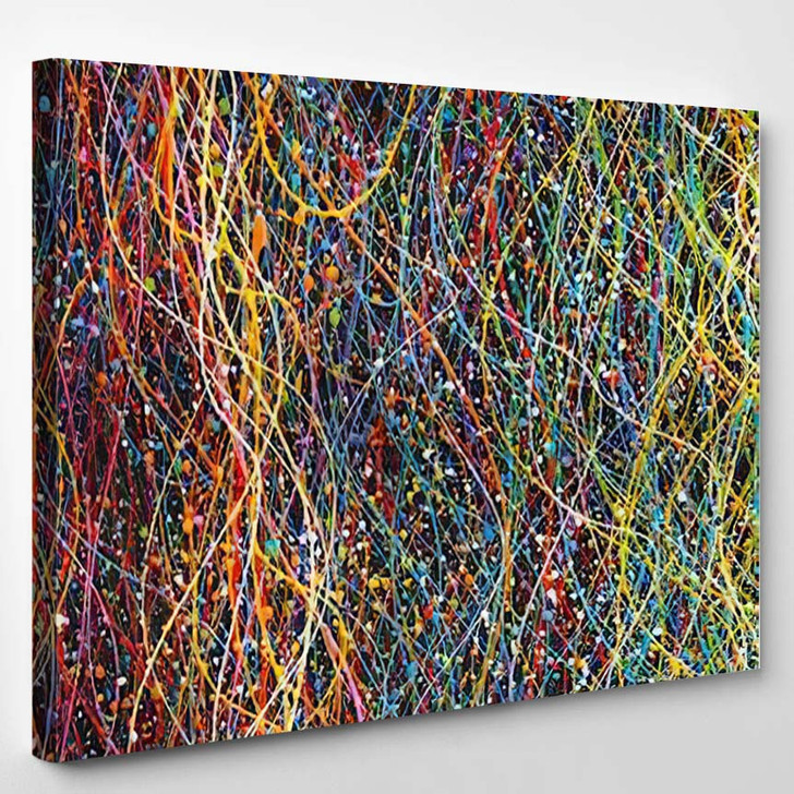 Abstract Lines Colorful Background Texture Party 1 - Abstract Art Canvas Wall Decor