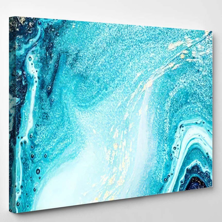 Abstract Ocean Art Natural Luxury Style 3 1 - Abstract Art Canvas Wall Decor