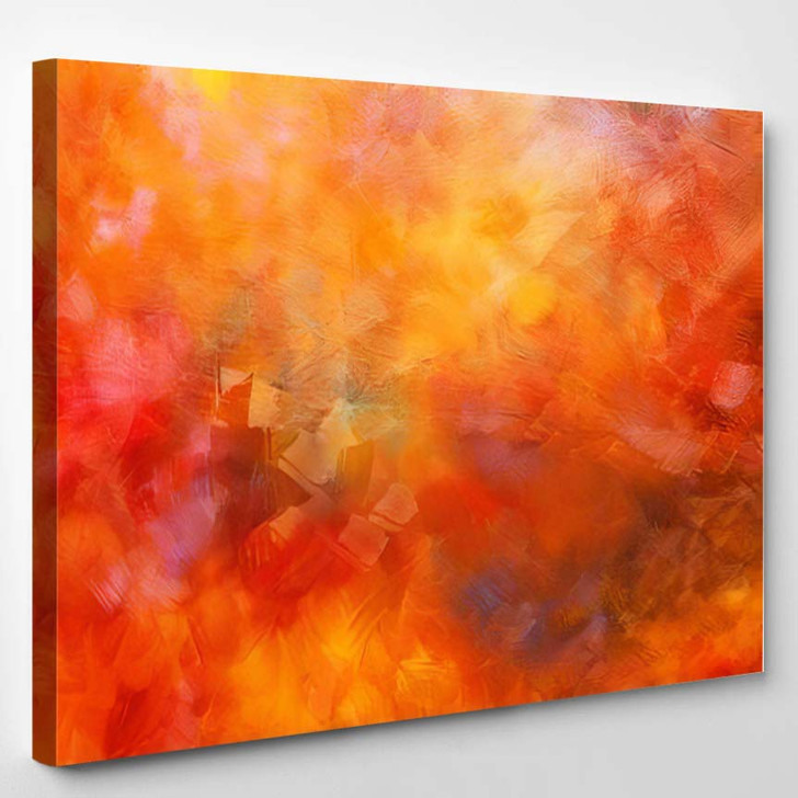 Abstract Oil Paint Texture On Canvas 1 1 - Abstract Art Canvas Wall Decor