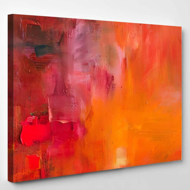 Abstract Oil Painting Background On Canvas 7 - Abstract Art Canvas Wall Decor