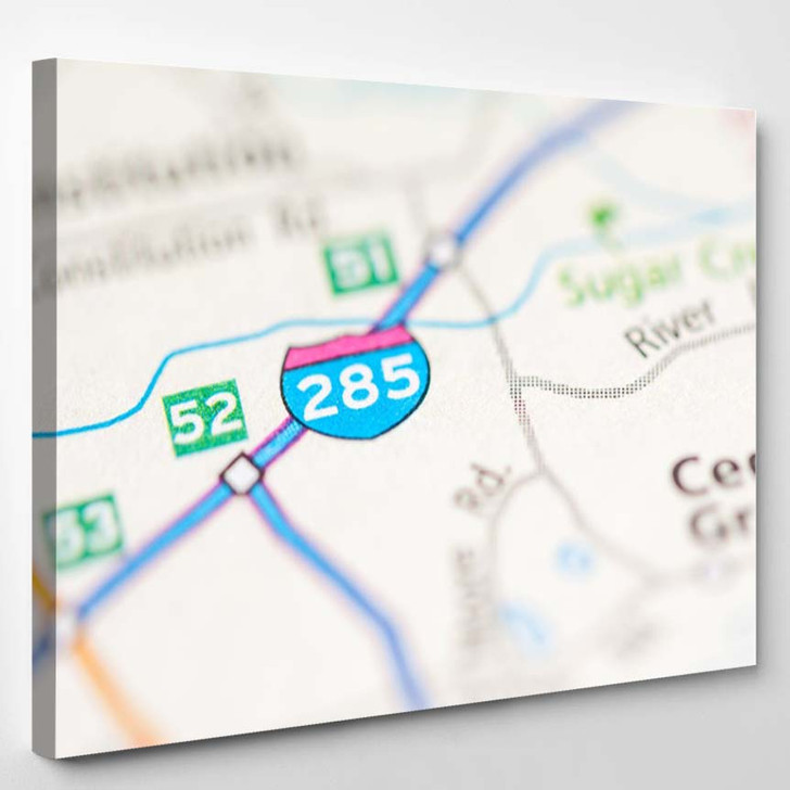285 Georgia Usa - Canvas Wall Decor