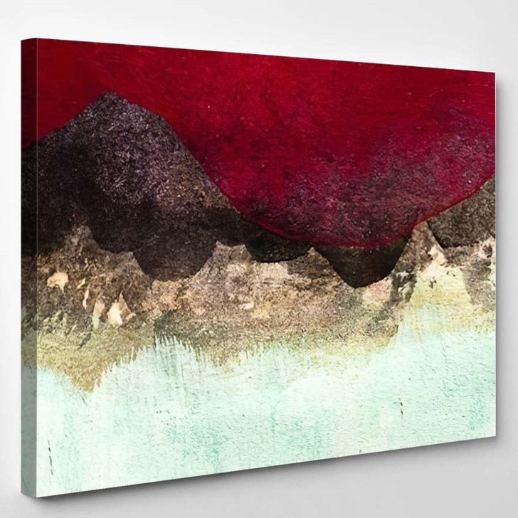 Abstract Painting Detail 1 - Abstract Art Canvas Wall Decor
