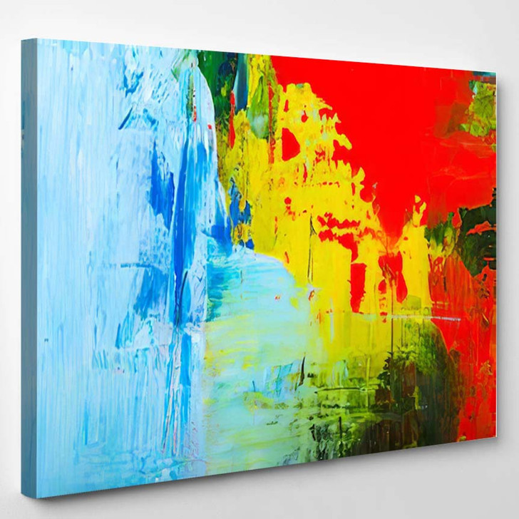 Abstraction Art Oil Paints Canvas Painting 1 - Abstract Art Canvas Wall Decor