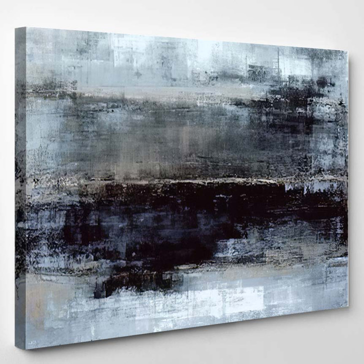 Blue Grey Abstract Art Painting 5 - Abstract Art Canvas Wall Decor