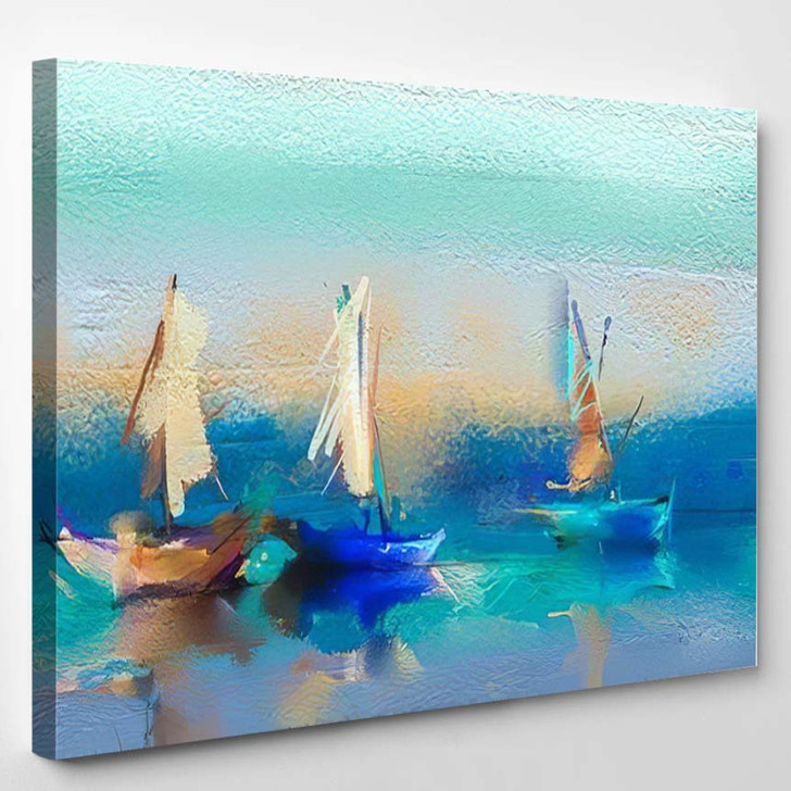 Colorful Oil Painting On Canvas Texture 5 - Abstract Art Canvas Wall Decor