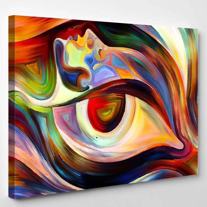Colors Mind Series Composition Elements Human - Abstract Art Canvas Wall Decor