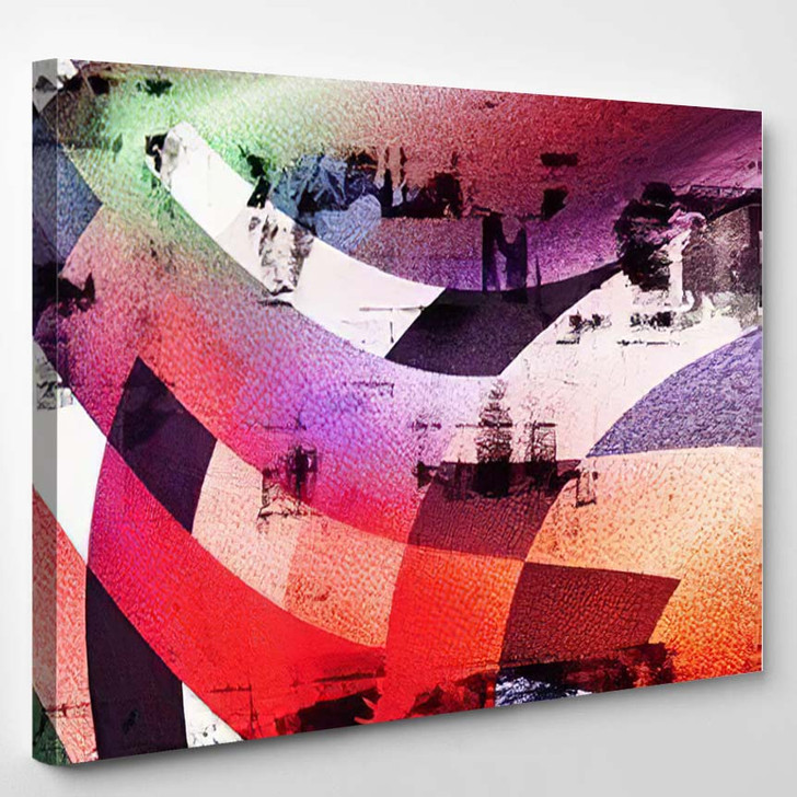Gradient Background Colorful Paint Like Graphic - Abstract Art Canvas Wall Decor