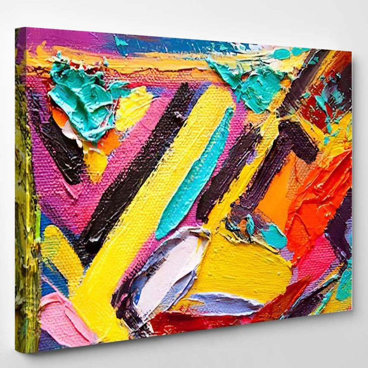 Hand Drawn Oil Painting Abstract Art 7 - Abstract Art Canvas Wall Decor