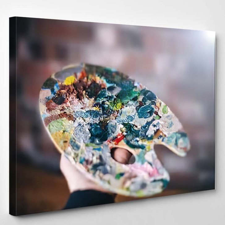 Multicolored Palette Hands Artist - Abstract Art Canvas Wall Decor
