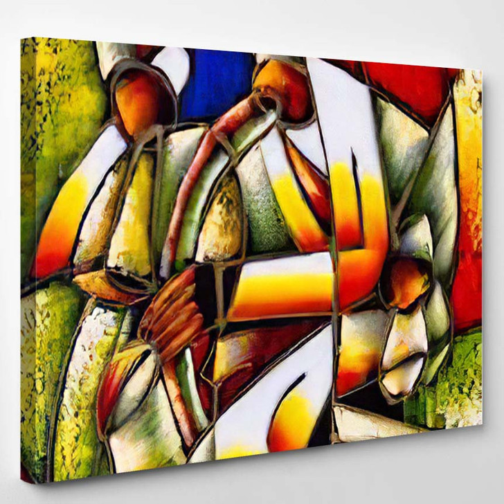Oil Painting Abstract Face 1 - Abstract Art Canvas Wall Decor