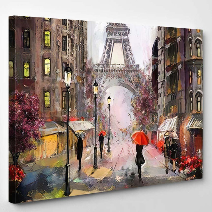 Oil Painting On Canvas Street View 8 - Abstract Art Canvas Wall Decor