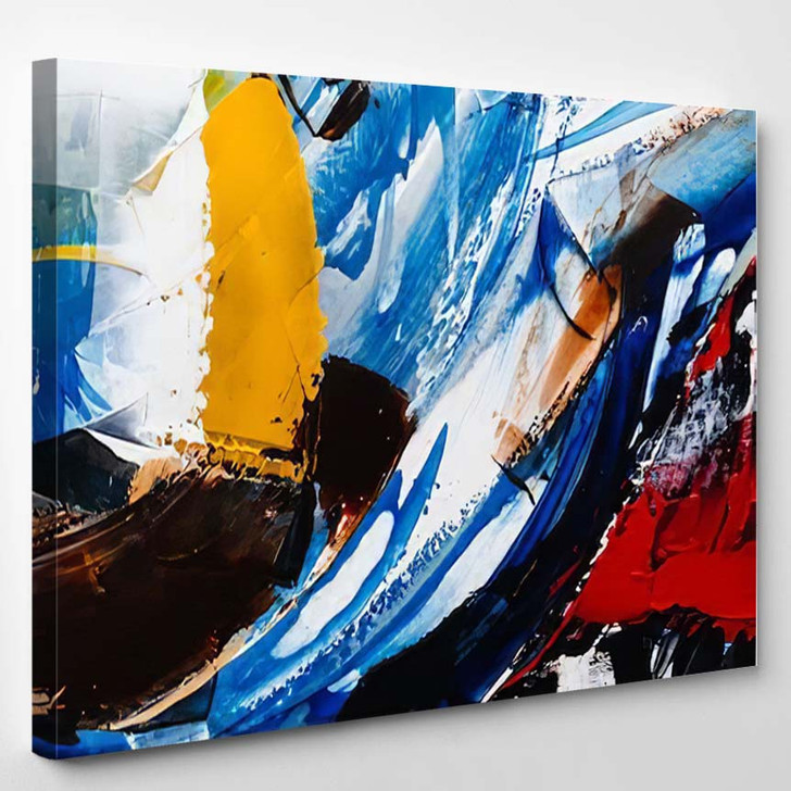 Painted Abstract Background 3 - Abstract Art Canvas Wall Decor