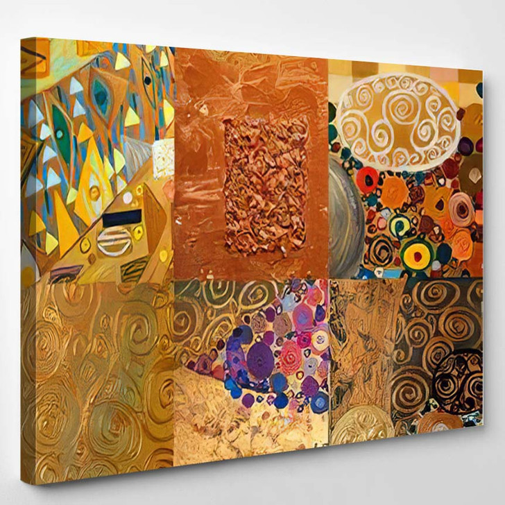 Texture Background Colorful Image Original Abstract 2 - Abstract Art Canvas Wall Decor