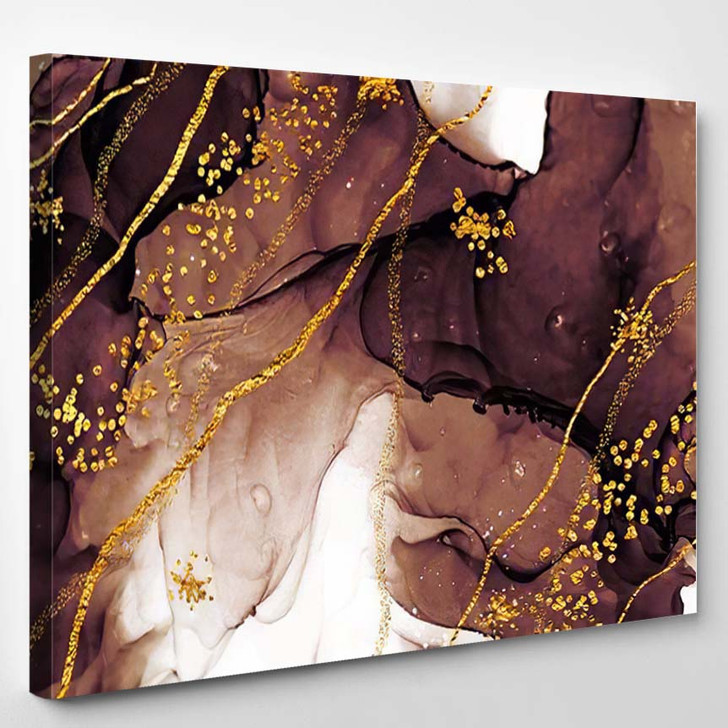 Unique Creativity Artgold Inspired By Sky - Abstract Art Canvas Wall Decor