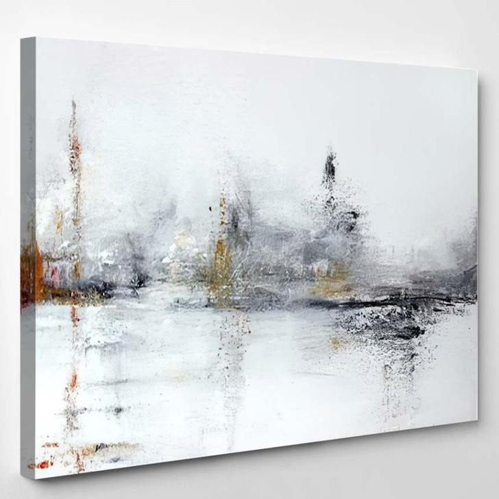 White Abstract Acrylic Painting On Canvas - Abstract Art Canvas Wall Decor